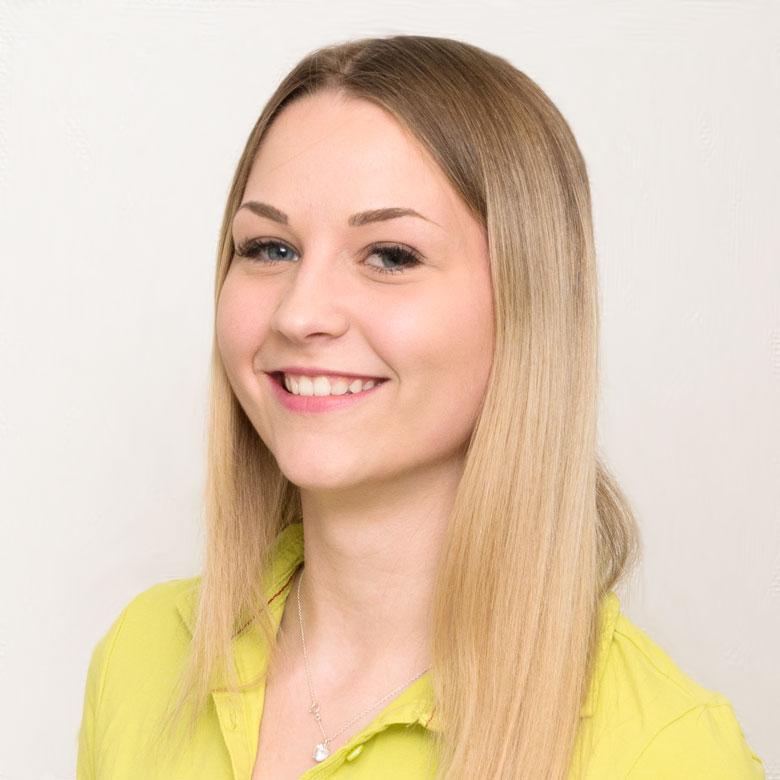 Sarah Schwarz, medizinisch technische Angestellte der Praxis Dres. Huntemann