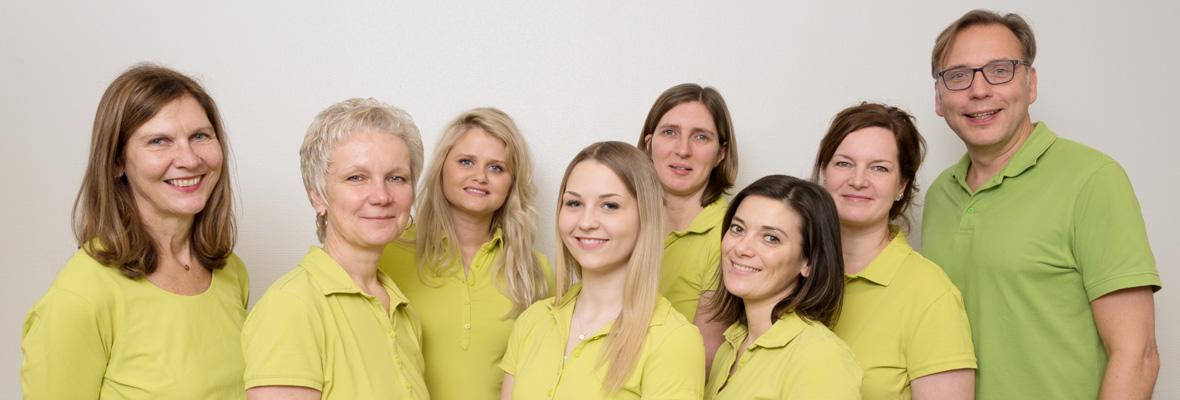 Das Team der Gemeinschaftspraxis Dres. Huntemann, Hausärzte und Internisten in Lüdenscheid